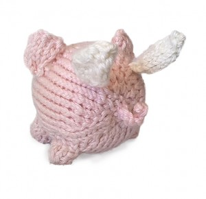 Oink knit pig with wings