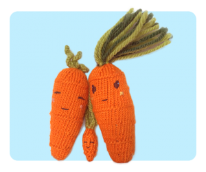 Tiny Baby Carrot with Sweet Carrot & Cool Carrot - cute!!