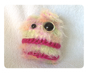 Colorful Candy Floss Monster cute stuffed toys knitting pattern