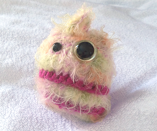 Colorful Cute Candy Floss Monster Halloween Knitting