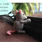 Mouse free cute knit pattern