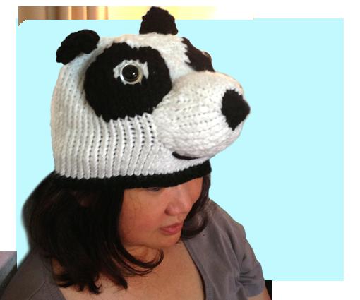 Free Cute Kungfu Panda Hat inspired knitting patterns