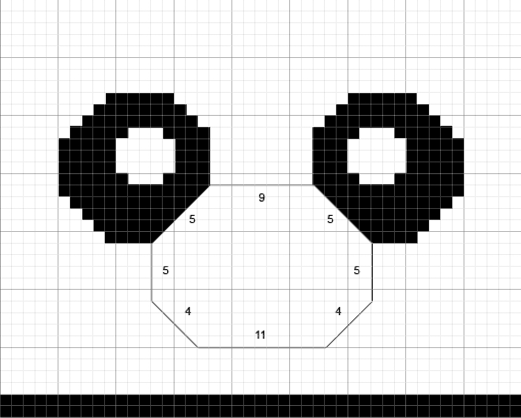 Free Cute Panda Hat Knitting Chart