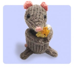 Mouse & Candy Corn Halloween free knitting pattern