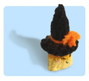 Candy Corn wearing cute witch hat!
