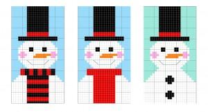 Snowman sketch stage 3