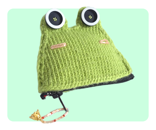 Frog Coin Purse free cute knitting patterns