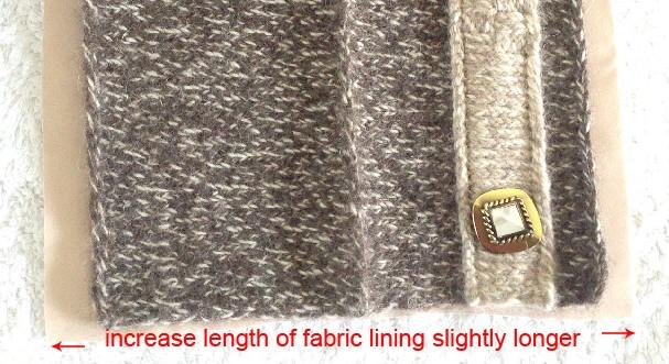 Cut fabric lining