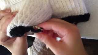 How to Knit a Panda hat part 2