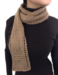 Free Unisex Lace Border Scarf knitting patterns