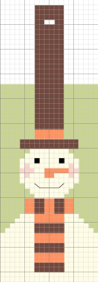 Snowman Mobile Phone Case Knitting Chart