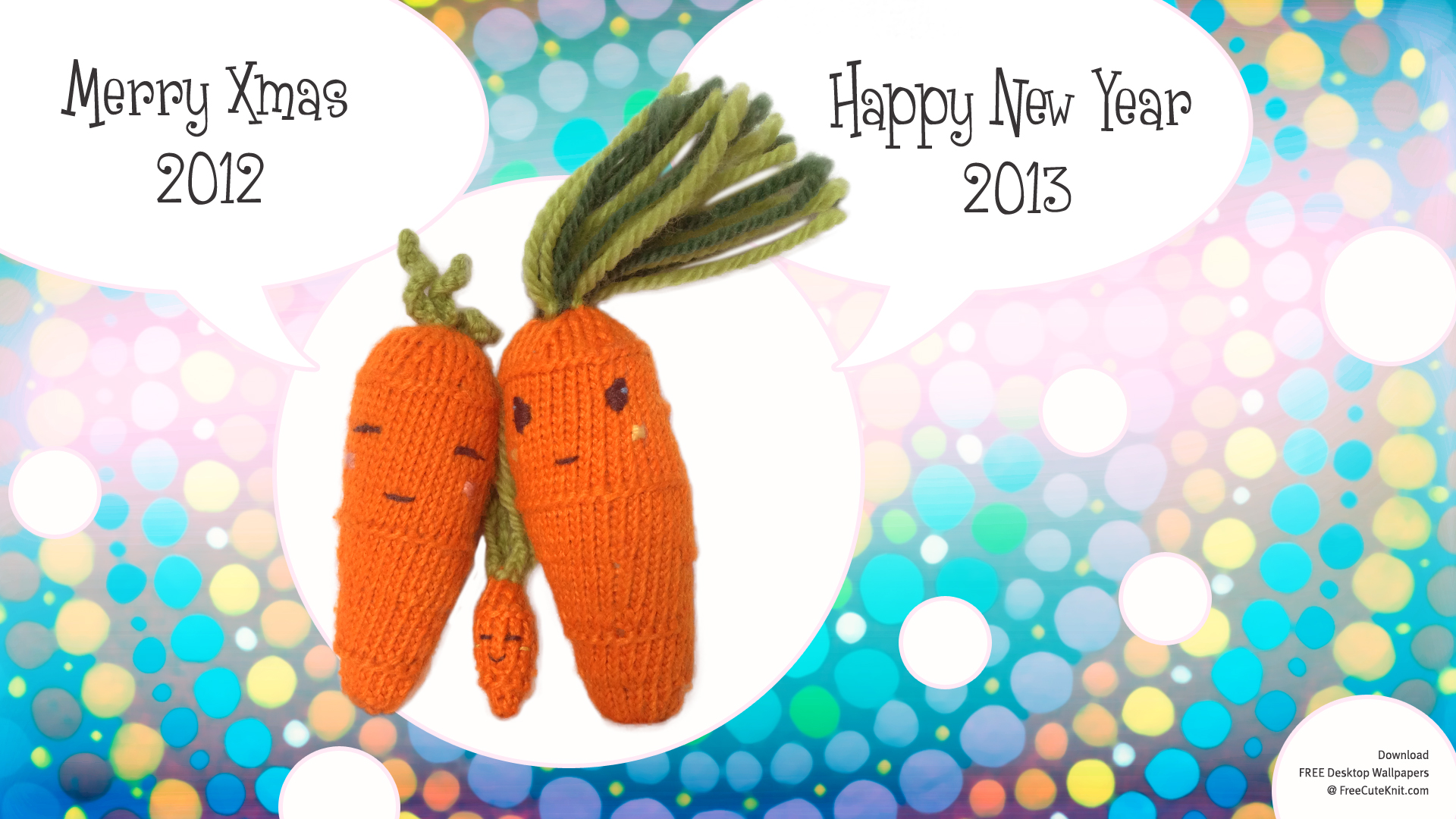 Free Desktop Wallpaper Carrot Knitting HD